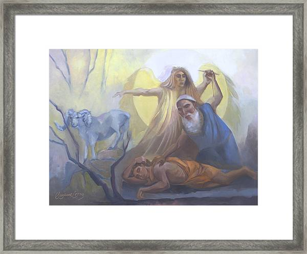 Abraham And Issac Test Of Abraham Framed Print