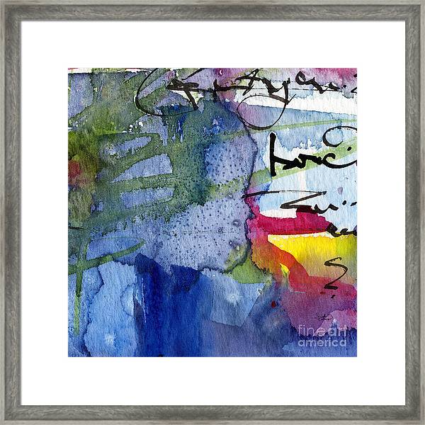 Abstract Alge And Sea Modern Square  Framed Print