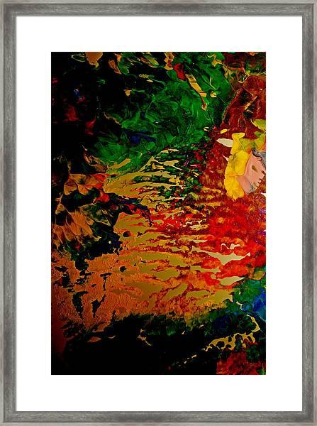 Abstract Colors Framed Print by Gloria Warren