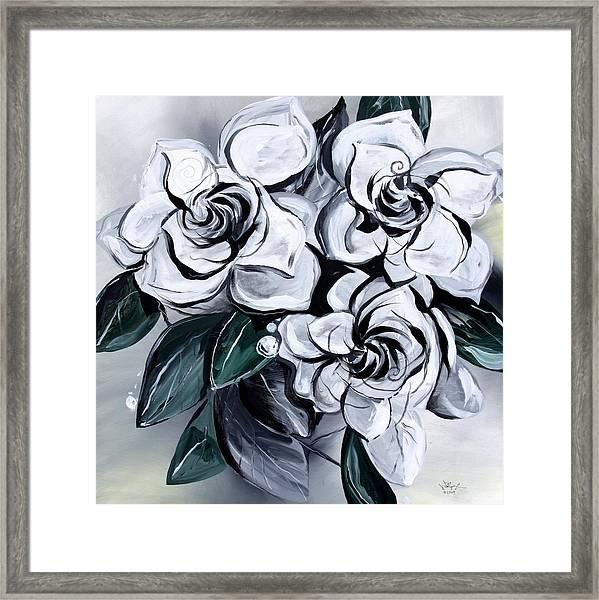 Abstract Gardenias Framed Print