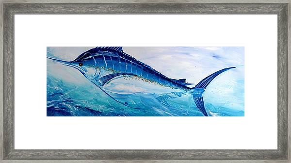 Abstract Marlin Framed Print