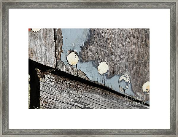 Abstract With Blue Framed Print
