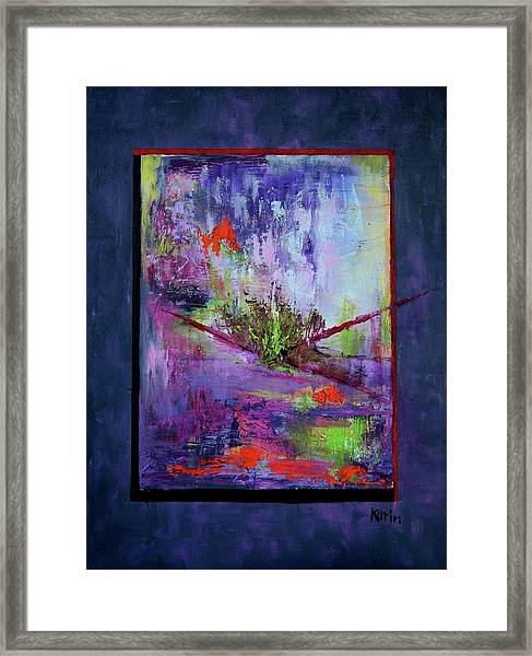 Abstract With Center Framed Print