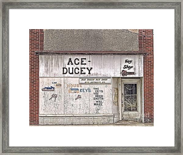 Ace-ducey Framed Print