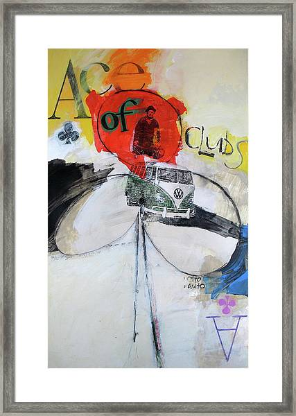 Ace Of Clubs 36-52 Framed Print
