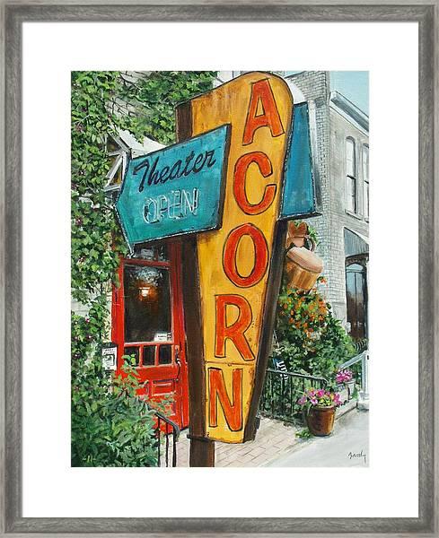 Acorn Theater Framed Print