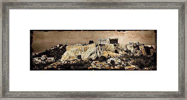 Framed Print featuring the photograph Athens, Greece - Acropolis by Mark Forte