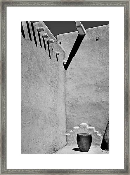 Adobe Wall And Pot Framed Print