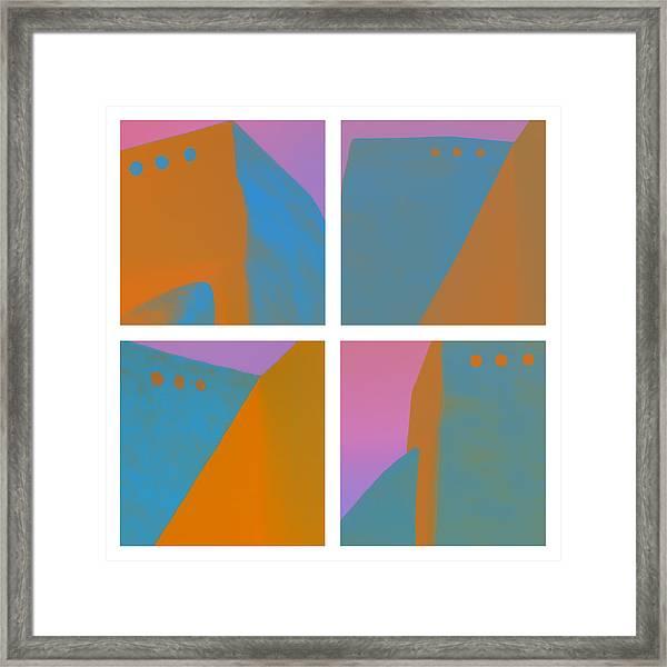 Adobe Walls Four-up Framed Print