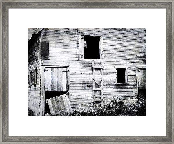 Aging Barn  Framed Print
