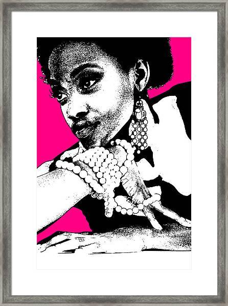 Aisha Pink Framed Print by Naxart Studio