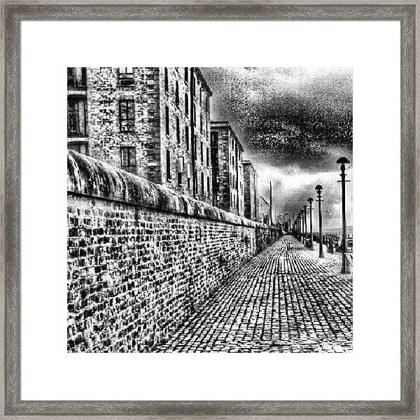 #albertduck #liverpool #sky #cloudy Framed Print