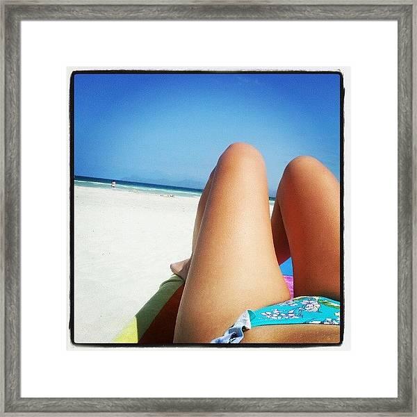 #alcudia #beach #mallorca Framed Print