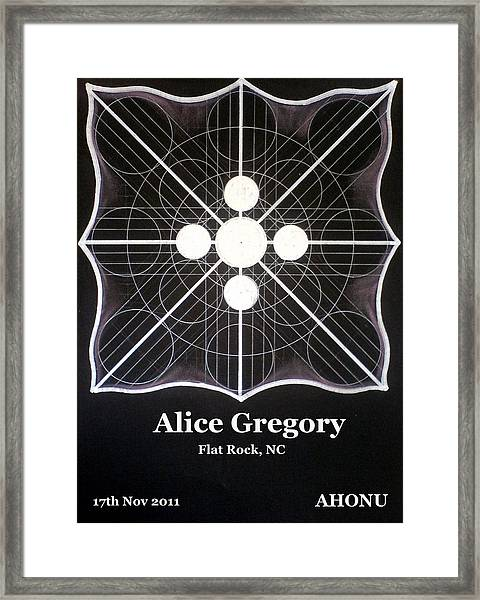Alice Gregory Framed Print