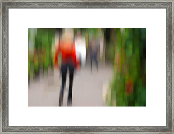 Alive In The City 2 -walking The Dog Framed Print