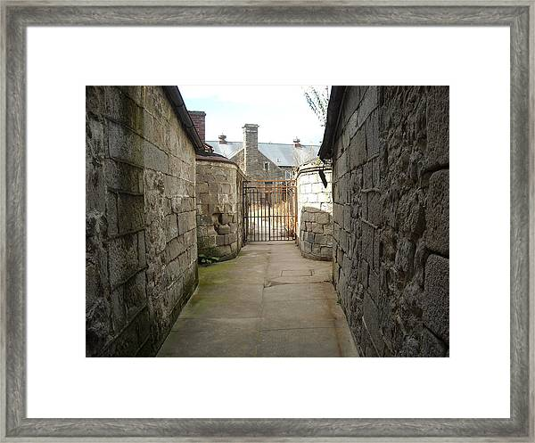 Alley Of The Caretakers Framed Print