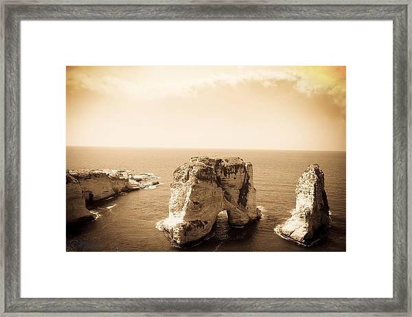Alrawsharock Framed Print by Amr Miqdadi