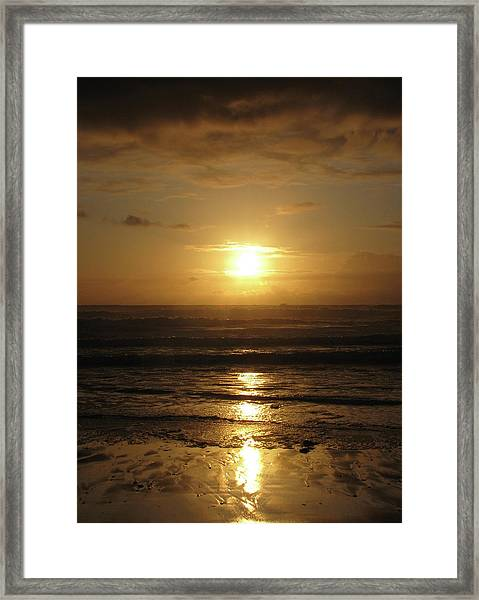 Amber Sunset Pacific IIi Framed Print
