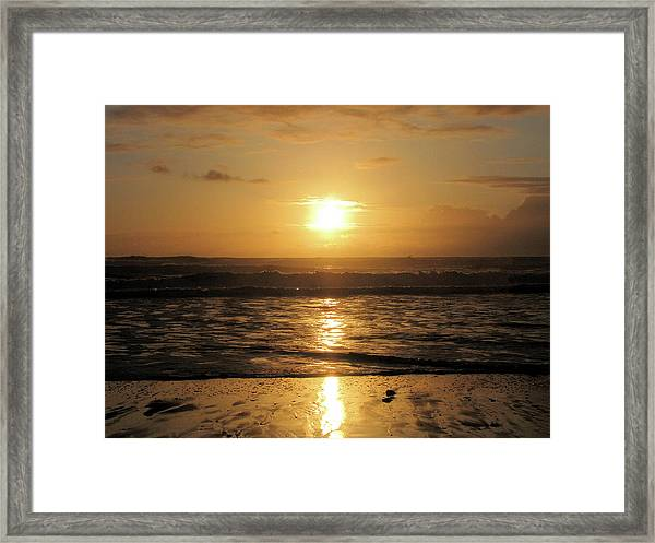 Amber Sunset Pacific Framed Print