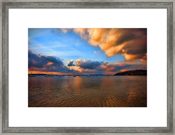 Ambers Sunset Framed Print