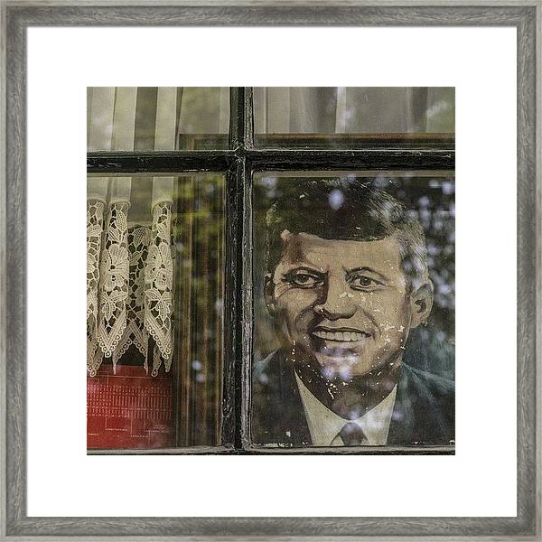 #amsterdam #keizersgracht #nl #window Framed Print