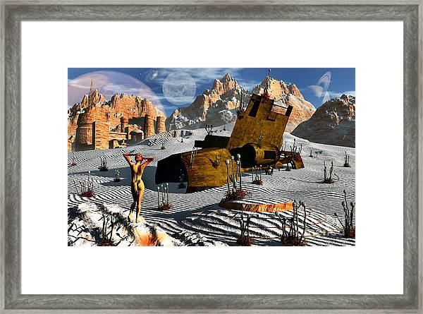 An Alien Planet Where The Arts Are An Framed Print