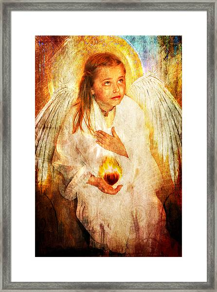 An Angels Heart  Framed Print