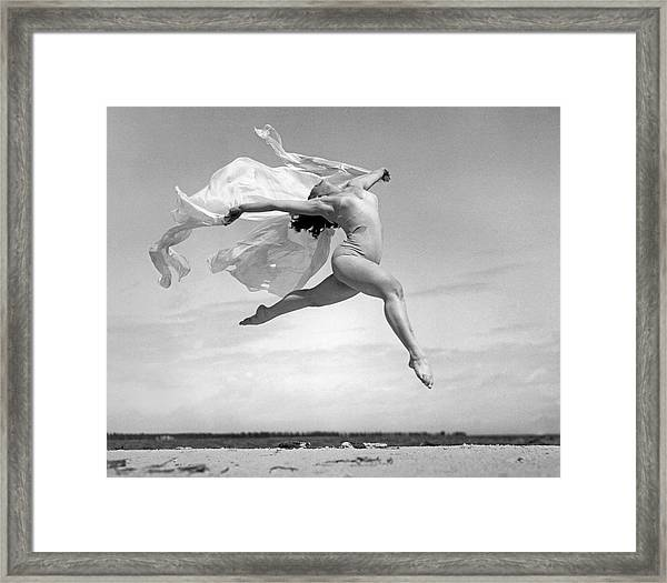 An Exuberant Dance To Spring Framed Print