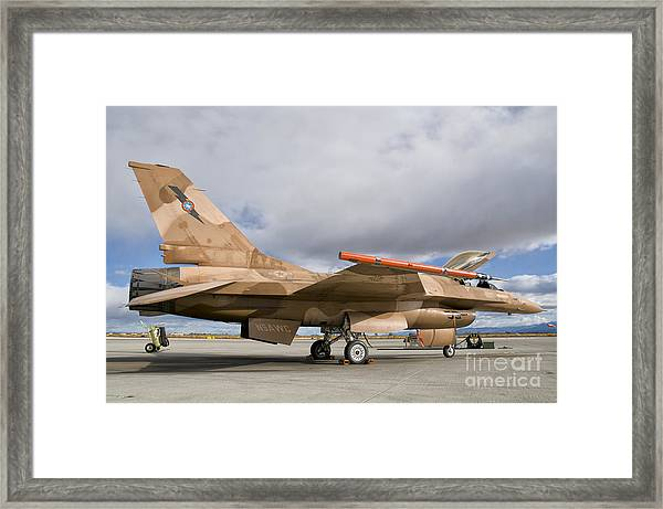 An F-16a Fighting Falcon Of The Famous Framed Print
