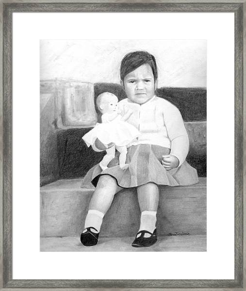 Ana With Dolly Framed Print
