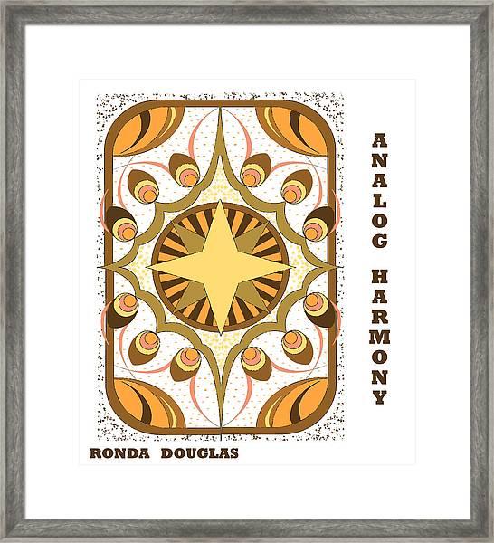 Analog Harmony Framed Print