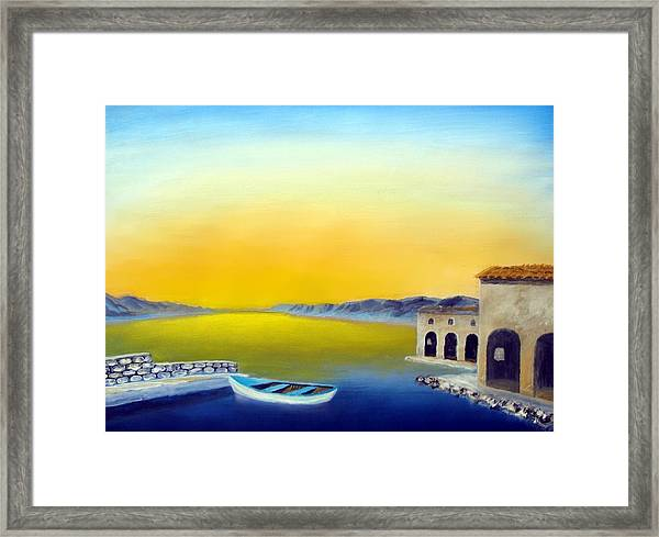 Ancient Fishing Village Framed Print