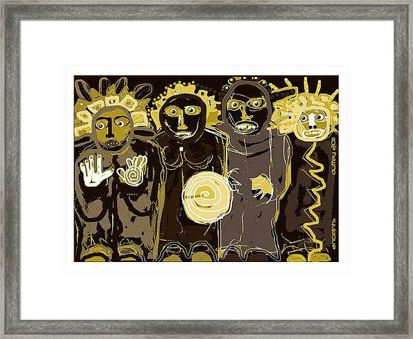 Ancients -duotone Framed Print
