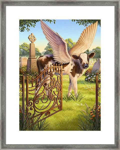 Angel Calf Framed Print