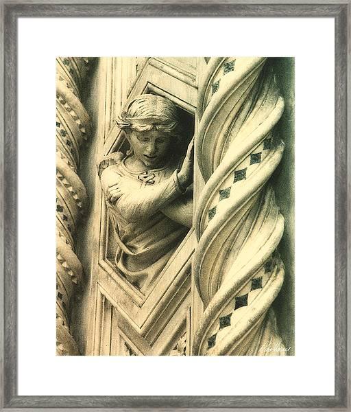 Angel Of The Basilica Framed Print