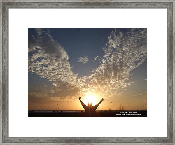 Angel Wings Framed Print by Satya Winkelman