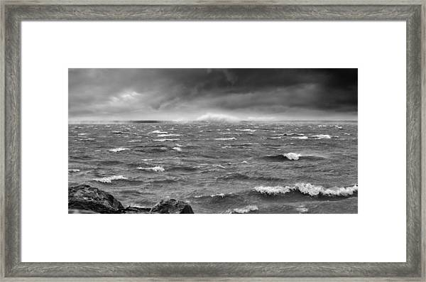 Angry Lake 1 Framed Print