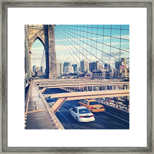 Another Day On Brooklyn Bridge Framed Print
