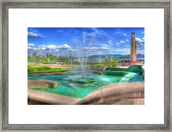 Another Photo Of Fountain At Cincinnati Museum Center Framed Print
