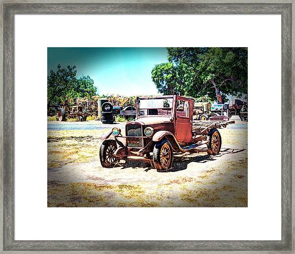 Framed Print featuring the photograph Antique Chevy Truck by William Havle