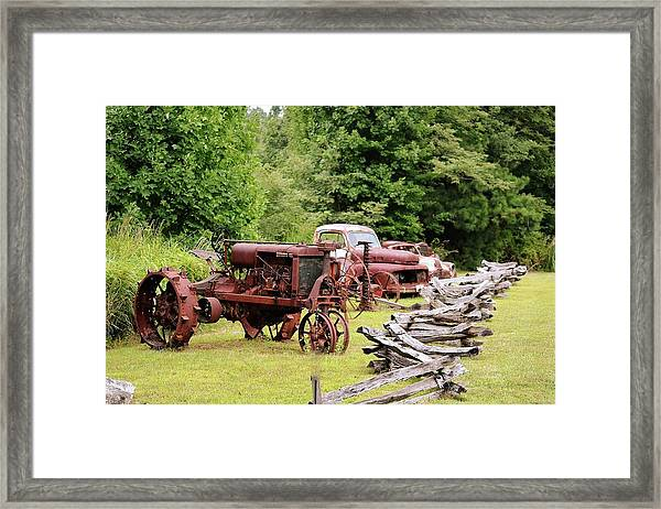 Antiques Display Framed Print