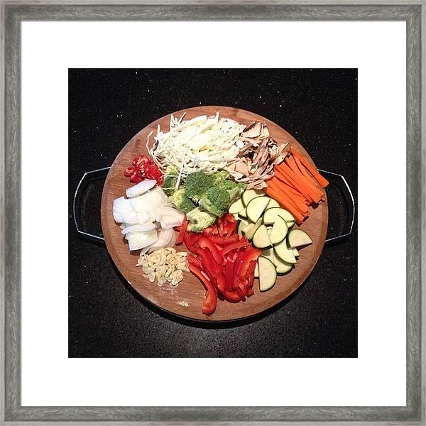 Anyone For Stir-fry? Framed Print