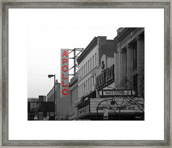 Apollo Theater In Harlem New York No.1 Framed Print