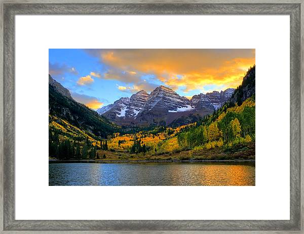 Approaching Sunset Framed Print