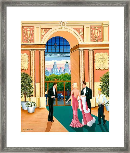 April In New York Framed Print