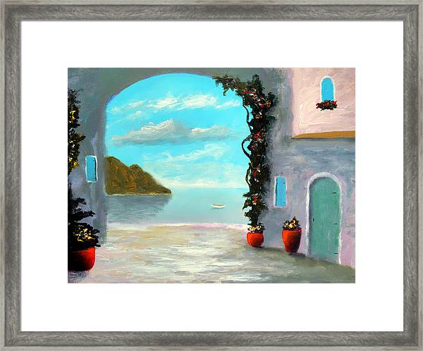 Arch To The Sea Framed Print