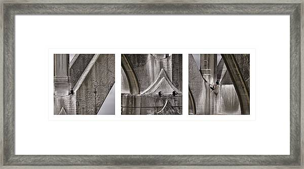 Architectural Detail Triptych Framed Print