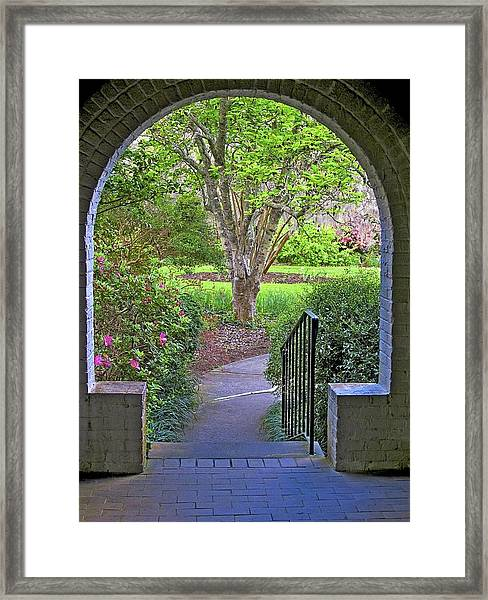 Framed Print featuring the photograph Archway by Ralph Jones