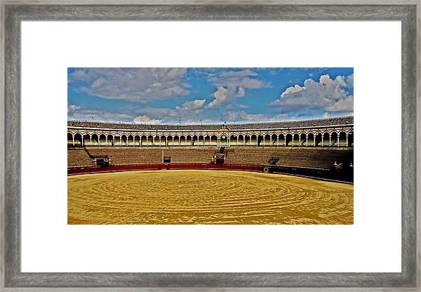 Arena De Toros - Sevilla Framed Print