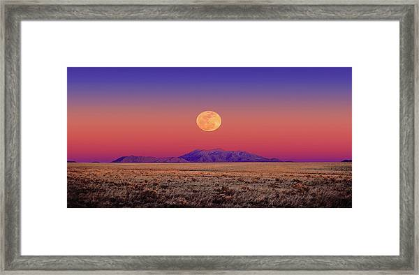 Arizona Full Moon Framed Print